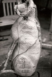 Chicken wire sheep mould