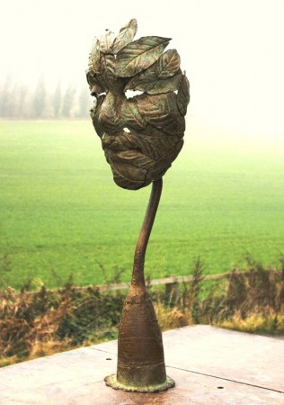 Made from Elder leaves formed over a little Elf face...     (Click to enlarge)