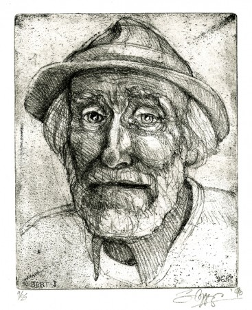 ... portrait of the much loved `Pied Piper` of Lambourn ...   (Click to enlarge)