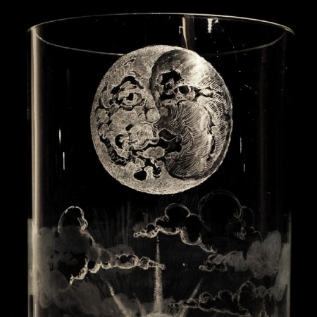 THE SUN and THE MOON - Engraved Glass