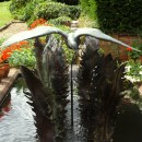 ... a water feature with fern fronds from the Downs �      (Click to enlarge)