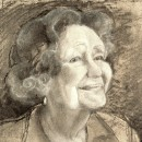 ... charcoal sketch of a great lady ...  (Click to enlarge)