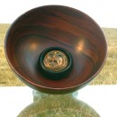 MOONLET ECLIPSE  - african blackwood & madagascar rosewood bowl by Paul Swan - Unique ...  (Click to enlarge)